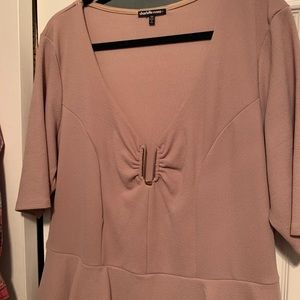 Charlotte Russe Dresses - Charlotte Russe Plus nude color peplum dress sz 3X